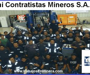 CONVOCATORIA DE TRABAJO PARA Tumi Contratistas Mineros