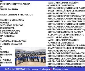 CONVOCATORIA DE TRABAJO EN San Martin Contratistas Generales S.A