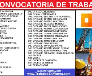 CONVOCATORIA LABORAL PARA Consorcio GyM – STRACON