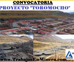 CONVOCATORIA DE TRABAJO PARA PROYECTO TOROMOCHO