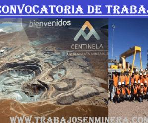 TRABAJOS PARA MINEROS EN ▶ Minera Centinela