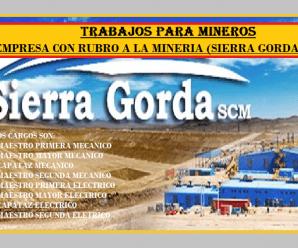 RECLUTAMIENTO DE MINEROS PARA MINERIA (SIERRA GORDA),