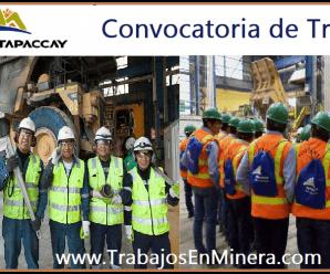 CONVOCATORIA DE TRABAJO Compañía Minera Antapaccay