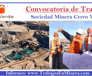 CONVOCATORIA DE TRABAJO MINERA CERRO VERDE S.A.A.