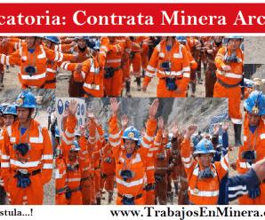 CONVOCATORIA DE TRABAJO PARA Contrata Minera Arca SAC