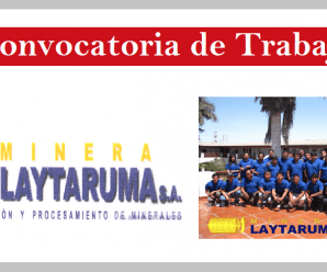 CONVOCATORIA DE TRABAJO MINERA LAYTARUMA S.A.